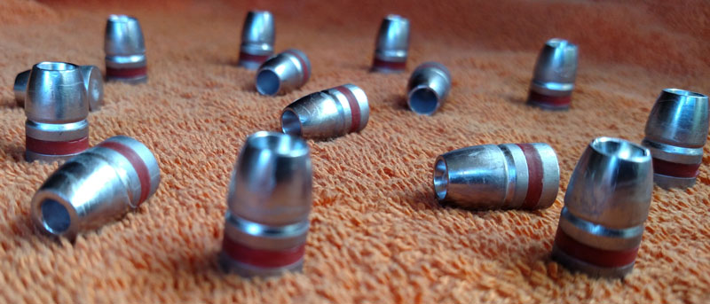 45 cal 255gr Hollow Point cast lead bullets w/crimp
