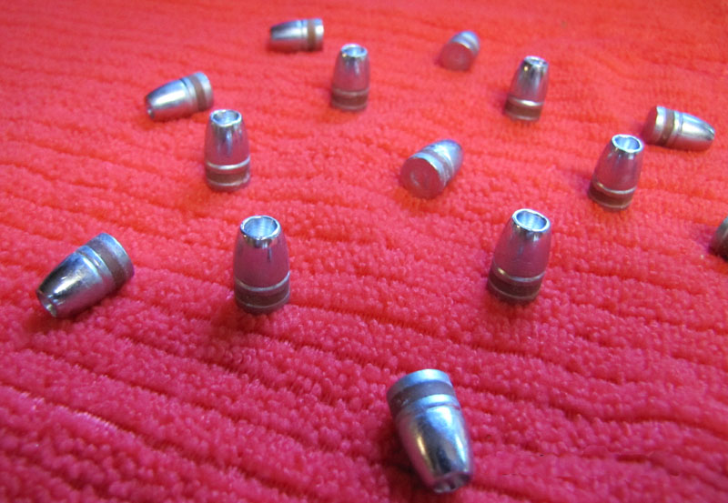 38 cal 130gr lead Hollow Point bullets w/ crimp
