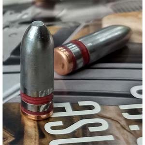 30 caliber 180gr SIL Flat Point with gas check lead bullet