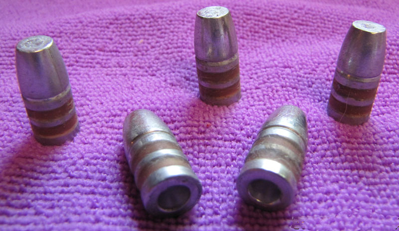 390gr WFN 45-70 hollow base cast bullets